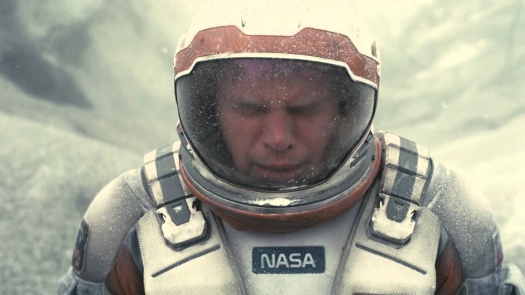Matt Damon, right before Texan Matthew McConaughey gives him an interstellar butt-kicking.